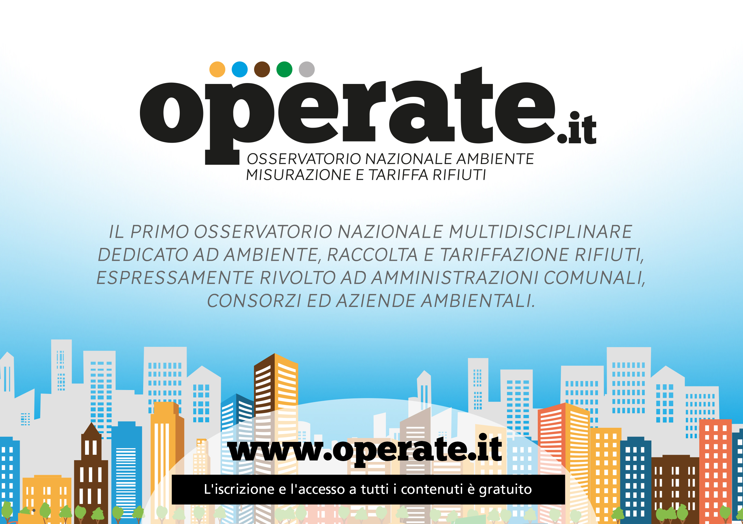 The Operate portalis online | National Observatory for Measurement and Waste Tax : operate.it