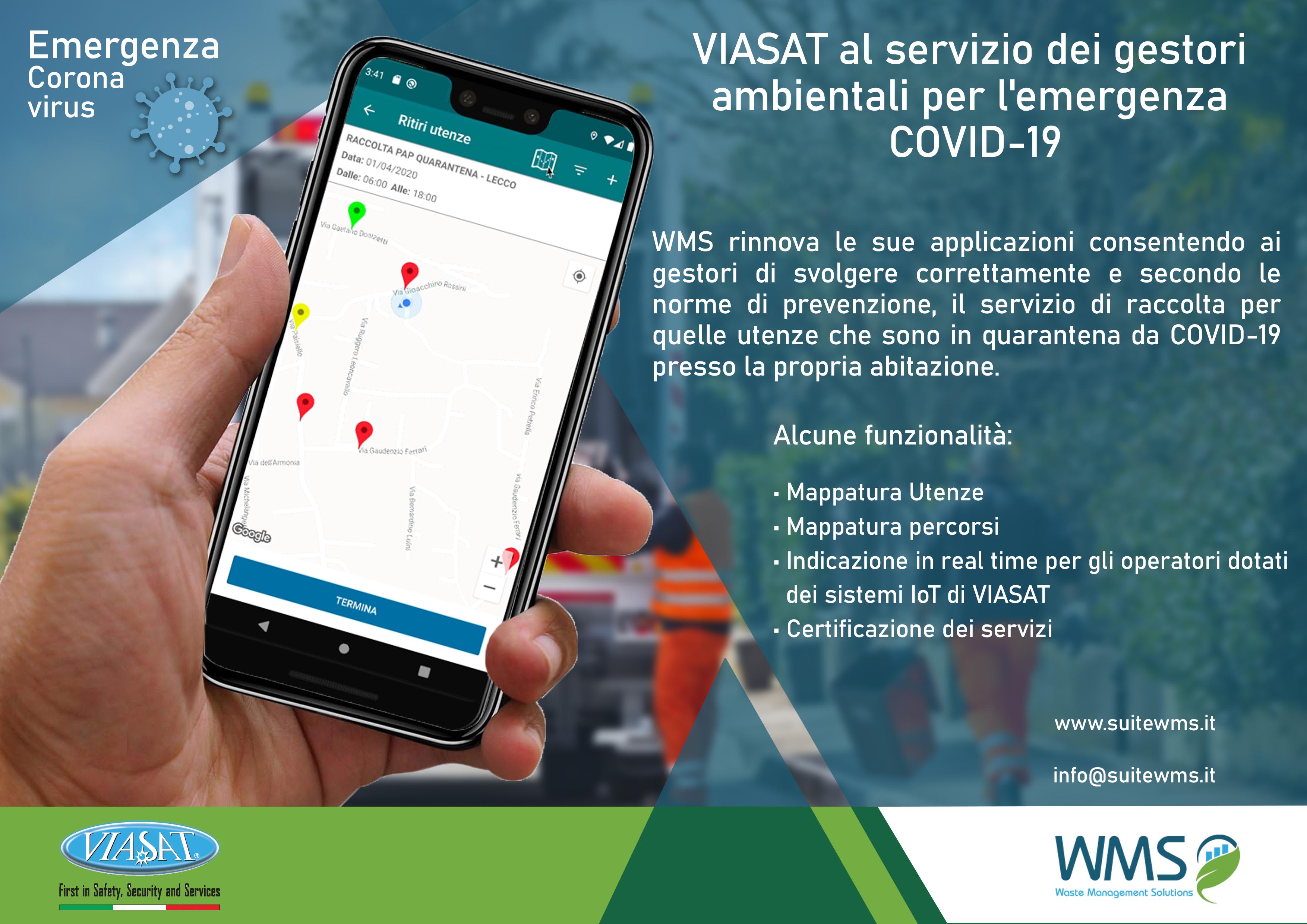 Emergenza Coronavirus: l'APP Covid di Viasat per oltre 80 comuni della provincia di Lecco