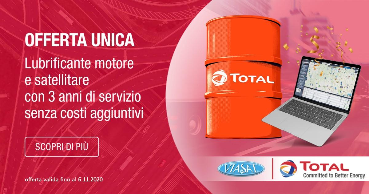 Viasat e Total Italia insieme per la gestione delle flotte